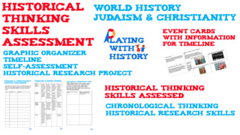 Judaism & Christianity Timeline Assessment - Historical Thinking Skills (PBL)