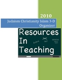 Judaism, Christianity and Islam 3-D Organizer