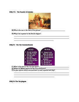 Judaism / Create your own Book of Judaism / Full Unit with Test w/ 5 dbq's