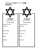 Judaism Fast Fact Card