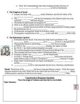 Judaism Guided Lecture Notes Handout (Egypt Unit)