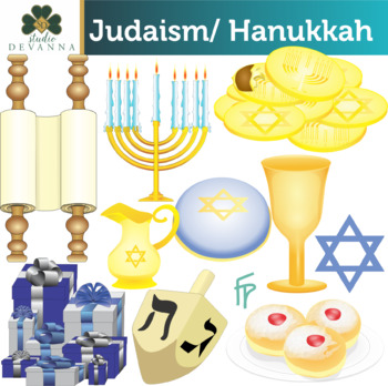 Judaism Hanukkah / Chanukah Clip Art