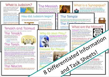 Judaism: History and Beliefs Activities / Worksheets