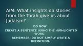 Judaism: Important Figures and Beliefs