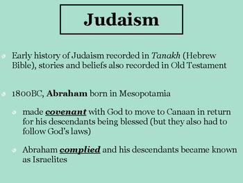 Judaism, Islam, and Christianity BUNDLE