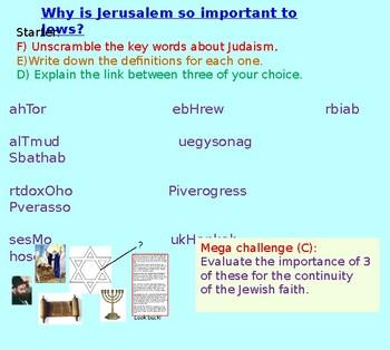 Judaism: Jerusalem