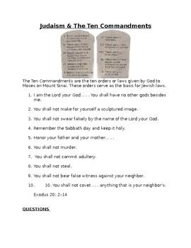 Judaism & The Ten Commandments