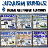 Judaism Unit Bundle {Digital AND Paper} Distance Learning