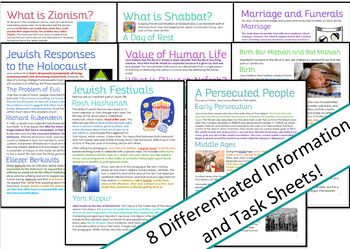 Judaism in the Modern World: Activities / Worksheets