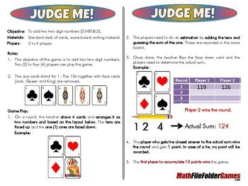 Judge Me! - 2nd Grade Math Game [CCSS 2.NBT.B.5]
