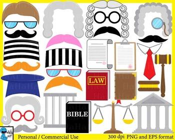 Judge Props - Digital Clip Art Graphics - 61 images cod196
