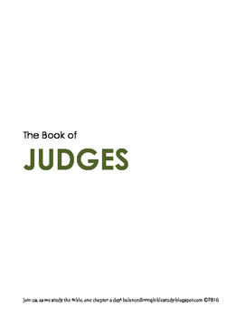 Judges WORD Guide