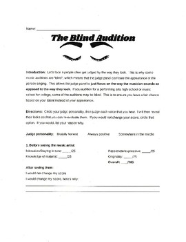 Judging Singers - The Blind Audition
