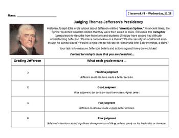 Judging Thomas Jefferson