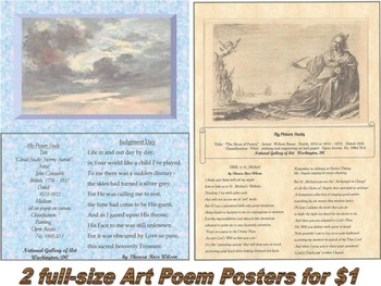 """Judgment Day"""" Art Poem Poster and """"ODE to St. Michael"""" Art Poem Poster"""