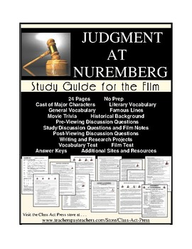 Judgment at Nuremberg: The Study Guide for the Film by Class