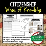 CITIZENSHIP Activity, Wheel of Knowledge Interactive Notebook