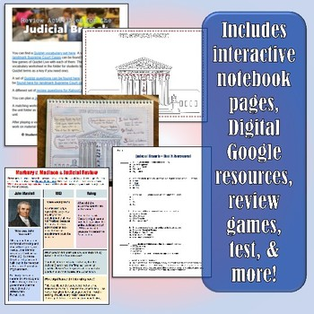 Judicial Branch American Government & Civics Unit Plan