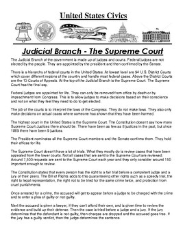 Judicial Branch Article and Assignment