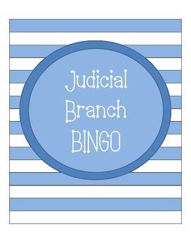 Judicial Branch Bingo