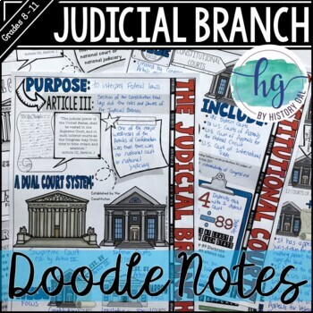 Judicial Branch Doodle Notes