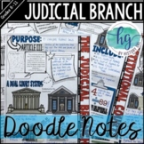 Judicial Branch Doodle Notes and Digital Guided Notes
