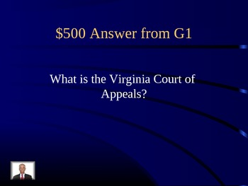 Judicial Branch Jeopardy Game for Civics