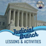 Judicial Branch: Interactive Notebook Reading Comprehension & Activity Pack