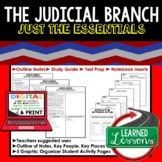 Judicial Branch Outline Notes JUST THE ESSENTIALS Unit Review