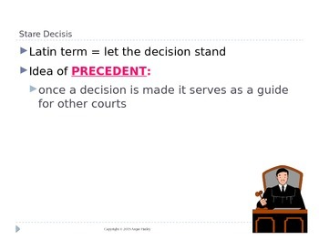 Judicial Branch Power Point Lecture