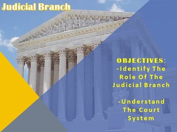 Judicial Branch PowerPoint & Notes