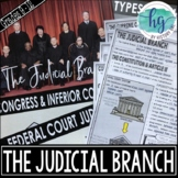 Judicial Branch PowerPoint and Guided Notes (Print and Digital)