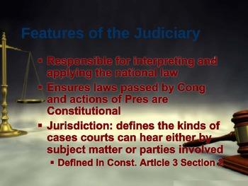 Judicial Branch Powerpoint
