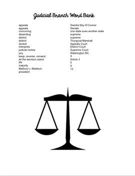 Judicial Branch Questions