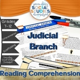 Judicial Branch   Reading Comprehension Passages and Quest