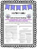 Judicial Branch, Supreme Court, and Major Court Case Bellwork {History Guru}