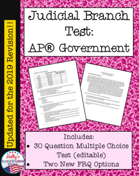 Judicial Branch Test (For AP® Government course)