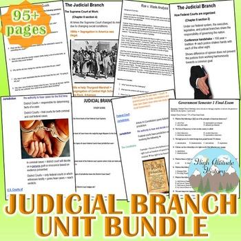 Judicial Branch Unit (Government) *Unit Bundle*