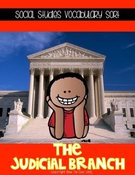 Judicial Branch of Government Vocabulary Sort