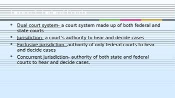 Judicial Branch vocabulary and videos