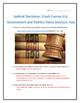 Judicial Decisions: Crash Course U.S. Government and Politics Video Analysis