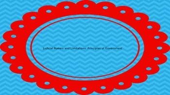 Judicial Powers and Limitations: Principles of Government