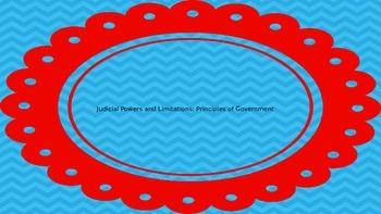 Judicial Powers and Limitations: Principles of Government