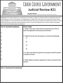 Judicial Review: Crash Course Government and Politics #21
