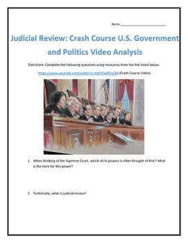 Judicial Review: Crash Course U.S. Government and Politics Video Analysis