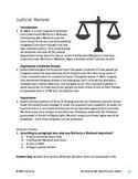 Judicial Review - Informational Text Test Prep
