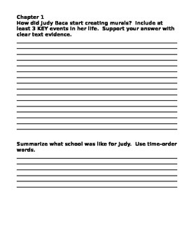 Judy Baca Wonders On Grade Level Reader Unit 1 Week 3