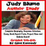 Judy Blume Author Study, Biography, Reading Response Activ