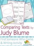Judy Blume Author Study {NO PREP Writing Activities & Game}