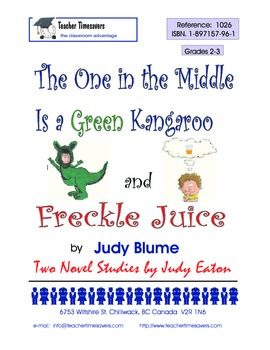Judy Blume - Freckle Juice & The One in the Middle is a Green Kangaroo